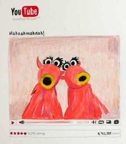 Kunstausstellung mit Youtube-Videos