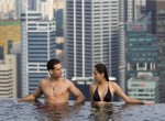 Marina Bay Sands Hotel mit Mega-Pool