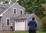 Cooler Basketball-Treffer