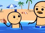 Cyanide & Happiness - Muschel am Strand
