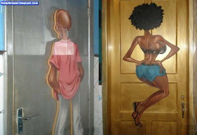 Toilettenschilder mit